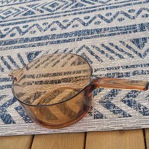 Vintage pyrex visions corningware amber 2.5 liter
